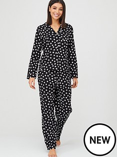 v-by-very-star-woven-button-throughnbsppyjamas-blacknbspprint