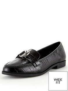 v-by-very-mandy-wide-fit-trim-loafer-black