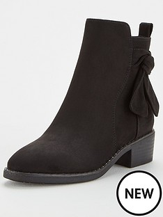 v-by-very-fala-knot-detail-ankle-boots-black