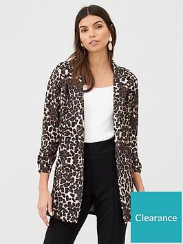 v-by-very-printed-longline-jersey-crepe-blazer-leopard