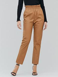michelle-keegan-elasticated-waist-pu-trouser-tan