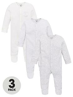 v-by-very-baby-unisex-3-pack-cosmic-and-stripe-sleepsuits-grey