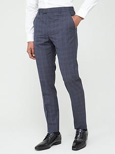 ted-baker-sterling-check-trousers-blue
