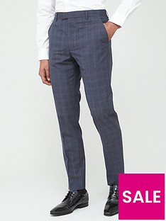 prod1089333785: Sterling Check Trousers - Blue