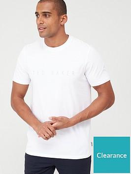 ted-baker-short-sleeved-raised-brand-t-shirt-white