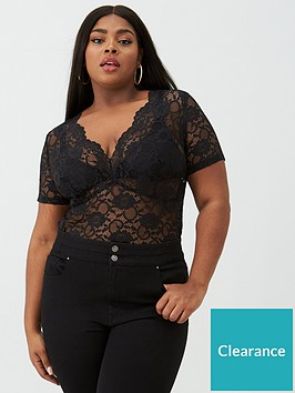 v-by-very-curve-stretch-lace-scallop-edge-top-black
