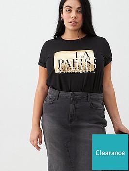 v-by-very-curve-la-paris-foil-tee-black