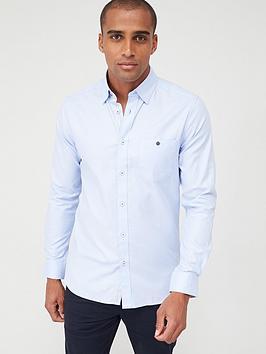 ted-baker-long-sleeved-oxford-shirtnbsp-blue