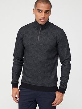 ted-baker-half-zip-funnel-neck-sweatshirt-black