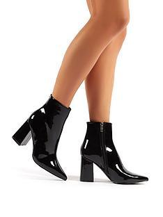 public-desire-empire-wide-fit-ankle-boots-black
