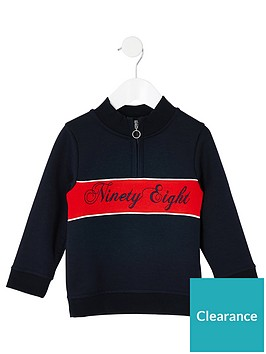 river-island-mini-mini-boys-block-half-zip-sweatshirt-navy