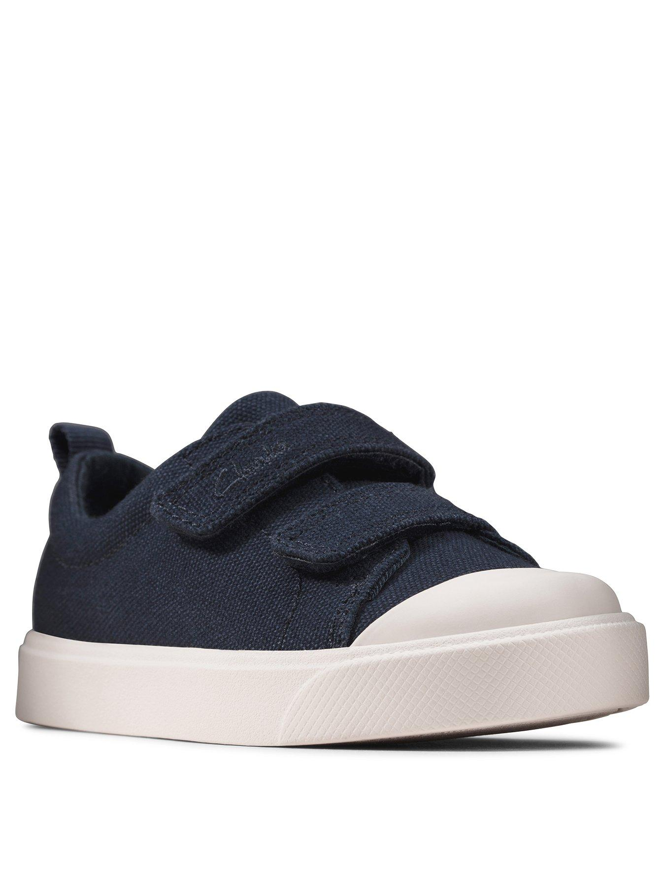 GIRLS BOYS CLARKS CITY GEO T TODDLER HOOK /& LOOP SUMMER CANVAS SHOES TRAINERS