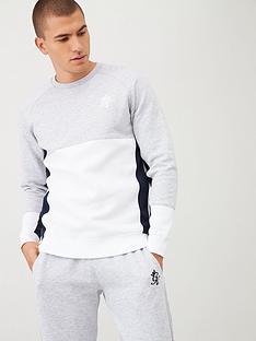 gym-king-minefield-crew-sweatshirt-greynavy