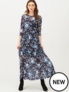 v-by-very-mesh-floral-midi-dress-blue-floral