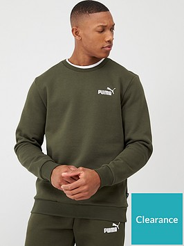 puma-crew-sweatshirt-khaki