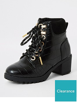 river-island-girls-croc-lace-up-hiking-boots-black