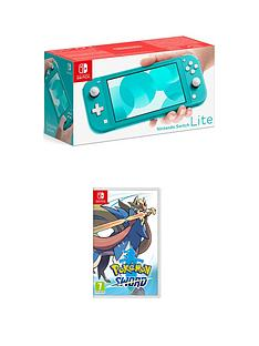 nintendo-switch-lite-nintendo-switch-lite-turquoise-console-with-pokemon-sword