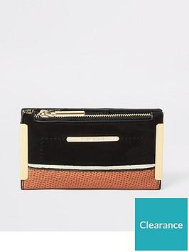 river-island-river-island-faux-suede-mini-purse-black