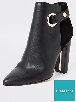 river-island-river-island-wide-fit-eyelet-detail-ankle-boot-black