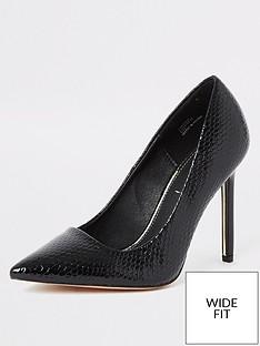 river-island-wide-fit-court-shoe-black
