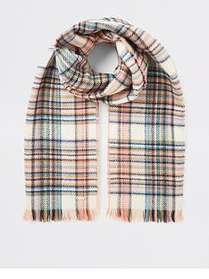 river-island-check-scarf-pink