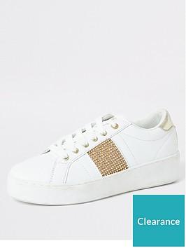 river-island-river-island-diamante-side-stripe-trainer-white