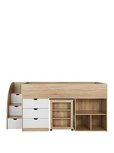 mico-mid-sleeper-bed-with-pull-out-desk-andnbspstorage-oak-effectwhite