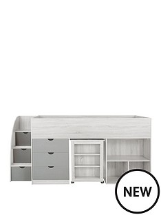 mico-mid-sleeper-bed-with-storage-oak-effectwhite