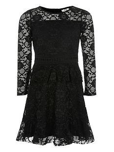 river-island-girls-lace-body-skater-dress-black