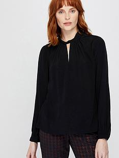 monsoon-skye-twist-neck-blouse-black