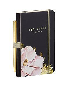 ted-baker-mini-notebook-and-pen-black-opal
