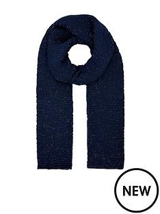 monsoon-petra-pleated-glitter-lightweight-scarf-navy