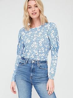 v-by-very-frill-long-sleeve-blouse-blue-floralnbsp