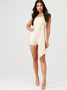 in-the-style-in-the-style-x-charlotte-crosby-leopard-jacquard-drape-detail-playsuit-nude