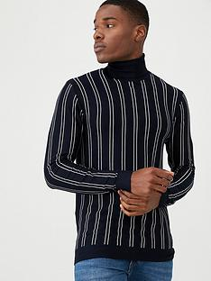 river-island-long-sleeve-essential-stripe-roll-neck