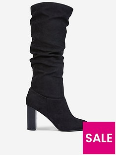 dorothy-perkins-dorothy-perkins-kiss-ruched-knee-high-boots-black