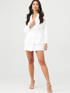 in-the-style-in-the-style-utility-blazer-dress-white