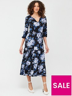 v-by-very-tiered-midi-dress-blue-floral