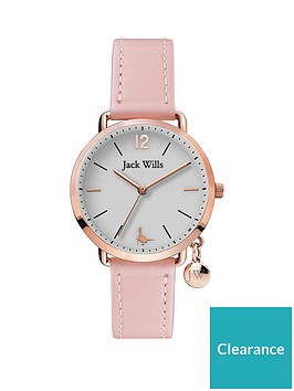 jack-wills-jack-wills-silver-brushed-dial-with-rose-gold-detail-and-charm-pink-leather-strap-ladies-watch