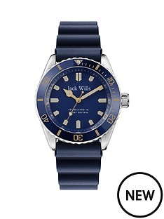 jack-wills-jack-wills-navy-and-gold-detail-dial-navy-silicone-wave-strap-watch