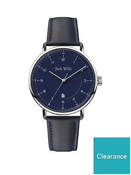 jack-wills-jack-wills-navy-and-silver-detail-date-dial-navy-leather-strap-watch