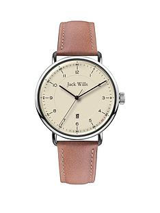 jack-wills-jack-wills-cream-and-silver-detail-date-dial-tan-leather-strap-watch