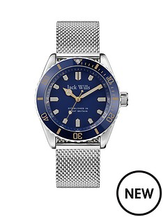 jack-wills-jack-wills-navy-and-gold-detail-dial-stainless-steel-mesh-strap-watch