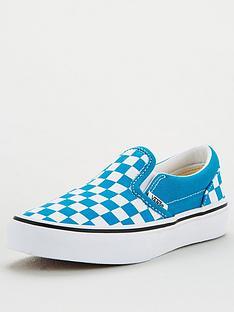 vans-childrens-classic-slip-on-checkerboard-blue-white