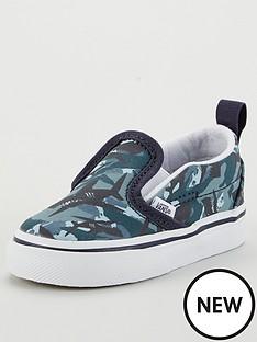 vans-toddlernbspslip-on-vnbspshoes-blue-camonbsp