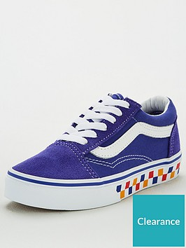 vans-childrens-old-skool-checkerboard-bluewhite