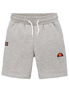 ellesse-younger-boys-toyle-shorts-grey