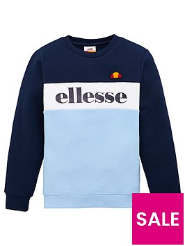 ellesse-older-boys-denomino-crew-neck-sweatshirt-light-blue