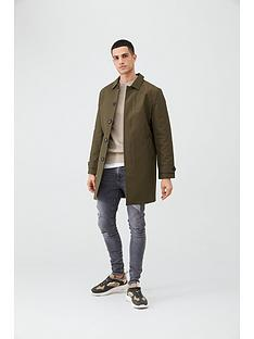 river-island-khaki-concealed-button-front-mac
