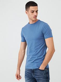 river-island-blue-muscle-fit-crew-neck-t-shirt